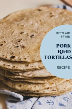 Keto Air Fryer Pork Rind Tortillas Thank goodness for pork rind tortillas which are the perfect option to substitute shells for tacos. This is the perfect choice for those looking for soft and bendy tortillas that are also flour and oil-free! Best Low Carb Tortillas, Keto Tortillas, Air Fryer Recipes Mozzarella Sticks, Keto Pork Rinds, Pork Rind Recipes, Soft Tacos, Tortilla Recipe, Keto Taco, Ketogenic Diet Meal Plan