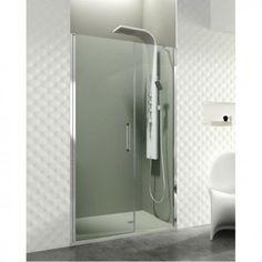 Paroi de douche pivotante 1 verre fixe + porte pivotante avec fermeture au fixe OPEN