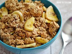 This rich and nutty Banana Nut Granola uses no added sugar or oils to make it crunchy and delicious. Step by step photos.