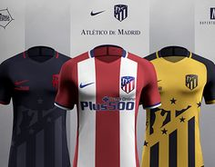 """Check out new work on my @Behance portfolio: """"Atletico de Madrid 2017/18 Concept - Nike"""" http://be.net/gallery/46743019/Atletico-de-Madrid-201718-Concept-Nike"""