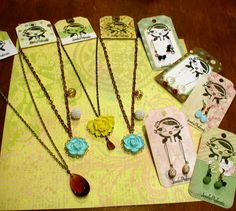 Earring and Necklace Labels  #diy #crafts #jewelry #labels #tags #necklace #earrings