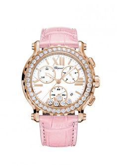 Chopard Watches Happy Sport Chrono Watch 18-karat rose gold and diamonds