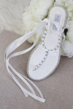 Beach Wedding Shoes, Wedding Flats, Cute Teen Shoes, Flat Sandals, Flip Flop Sandals, T Strap, Ankle Strap, Decorating Flip Flops, Girls Flats