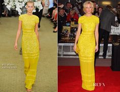 Elizabeth Banks In Bill Blass – 'The Hunger Games' London Premiere