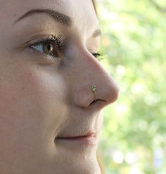 This is a listing for one (single) opal nose ring made of gold filled.  I always pay attention to small details like rounding wire ends in order
