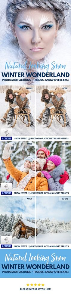 Real Snow Effect Photoshop Actions - Brushes - Overlay | Photography Tips