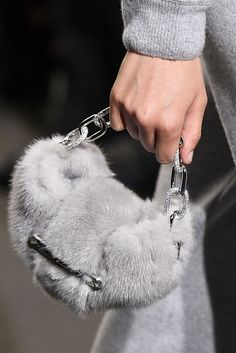 The best fall 2018 bag trends to shop this season, from top handle bucket bags to logo bags to furry purses. Fall Handbags, Purses And Handbags, Leather Handbags, Chanel Handbags, Luxury Handbags, Fur Purse, Fur Bag, Fall Bags, Fur Accessories