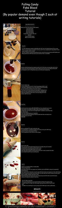 Fake blood tutorial