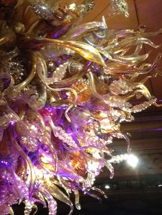 Close Up - Glass Light Sculpture - Atlantis Casino