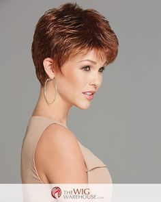 The classic pixie cut gets a makeover with professionally layered locks that boast incredible texture and height the crown. Ready styled when it arrives, you can effortlessly achieve a chic spiky look