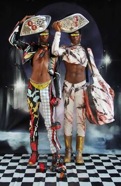 Found Futures: Introducing the Mowalola Man - 032c Afro Punk, Retro Futurism, Psychedelic, African Fashion, Editorial Fashion, Fashion Outfits, Men's Fashion, Fashion Editorials, Fashion Books