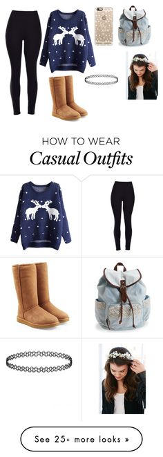 """""""Casual"""" by naomi2018 on Polyvore featuring мода, Aéropostale, UGG Australia, Casetify, women's clothing, women's fashion, women, female, woman и misses"""