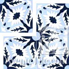 Cuban Heritage Design 130 2A Field Cement Tile | Encaustic Cement Tile
