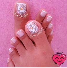 Pretty Toe Nails, Cute Toe Nails, Cute Nail Art, Pedicure Designs, Pedicure Nail Art, Toe Nail Designs, Feet Nail Design, Toe Nail Color, Summer Toe Nails