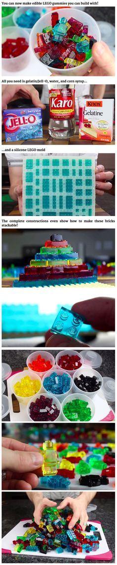 Edible LEGO bricks...