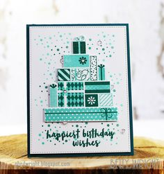 Happiest Birthday Wishes!  Papertrey Ink cards