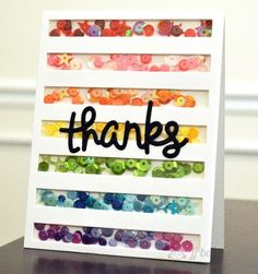 Resultado de imagen de ideas for shaker cards Cool Cards, Diy Cards, Rainbow Card, Karten Diy, Interactive Cards, Shaker Cards, Card Tutorials, Card Making Inspiration, Happy Birthday Cards