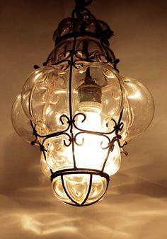 Vintage Murano Seguso Cage Lamp Bohemian Pendant by CrolAndCo