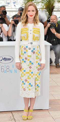 """Look of the Day - May 19, 2015 - """"Sicario"""" Photocall - The 68th Annual Cannes Film Festival from #InStyle"""