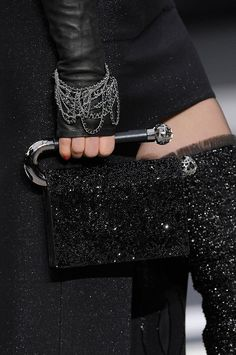 Repurposed toilet paper holder at Chanel Details A/W '13