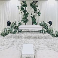 Solemnisation of Mohammad Zulhusaini Dato Md Haris Bukit Jelutong… Wedding Backdrop Design, Wedding Reception Backdrop, Wedding Stage Decorations, Pelamin Simple, Diy Wedding Flowers, Garden Wedding, Dream Wedding, Akad Nikah, Wedding Background