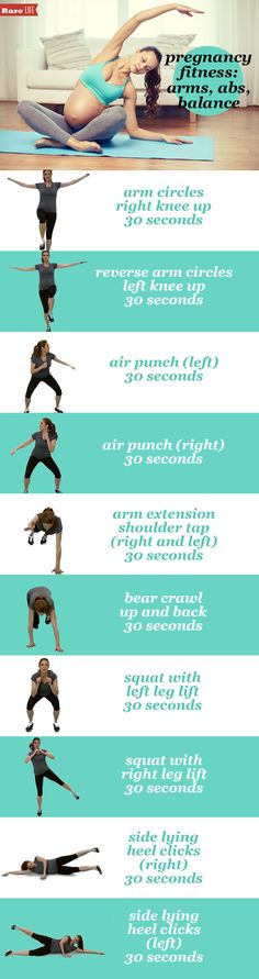 #Pregnancy fitness 101 from Hot Topics' @hcat. Check out these arms, abs and balance tips!
