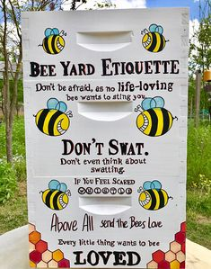 This Bee Hive is priced with the combination shown - UNASSEMBLED 2 Deep UNASSEMBLED Super 1 Medium UNASSEMBLED Supers (BOTTOM BOARD & Hive Cover SOLD SEPARATELY) The Boxes Read: Bee Yard Etiquette Dont be afraid as no life-loving bee wants to sting you DONT SWAT Dont even thing about