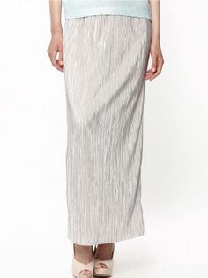 WAREHOUSE Metallic Pleated Maxi Skirt purchase from koovs.com