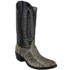 Cowtown Men's Cowboy Boots Natural Eastern Ratlesnake Medium R ToeFoot: Natural Eastern RattlesnakeTop: 13� Black CowToe: Meduim Round �R�Heel: CombinationInsole: RegularOutsole: LeatherFeel the power of an Eastern Rattlesnake on your foot. Cowtown boot-makers hand select the skins for each pair of handcrafted rattlesnake boots. Although no two skins are exactly the same, they d...