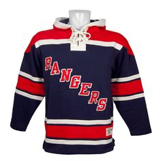 Old Time Hockey New York Rangers Lace Up Jersey Hoodie NHL Sweatshirt L   Amazon.co.uk  Sports   Outdoors e4dddb8af