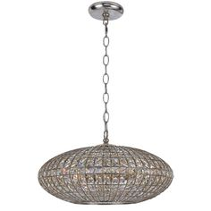 Solstice Antique Silver Six Light Pendant Crystorama Dome Pendant Lighting Ceiling Lightin