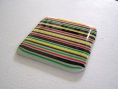 COASTERS  Fused Glass Special Art Glass Striped Coasters Fused Glass, Stained Glass, Glass Coasters, Glass Art, Trending Outfits, Unique Jewelry, Handmade Gifts, Etsy, Vintage