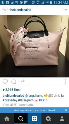 1 Just The Way, Love You, You Are Amazing, Ss16, Instagram Accounts, Longchamp, Bags, Handbags, Te Amo