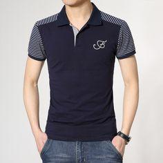 image Mens Polo T Shirts, Polo Tees, Short Sleeve Polo Shirts, Boys T Shirts, Camisa Polo, Men Looks, Mens Clothing Styles, Men Casual, Menswear