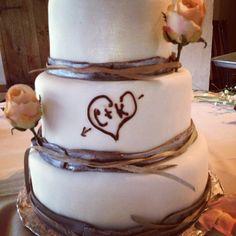 My #rustic wedding cake.
