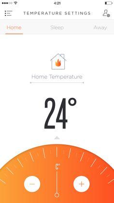 Phone Temperature App UI concept