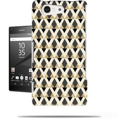 coque GLITTER TRIANGLES IN GOLD, BLACK AND NUDE pour Sony Xperia Z5 Compact