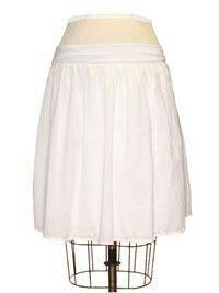 Voile maxi skirt waistband