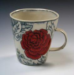 Red Zinnia Mug - Molly Hatch