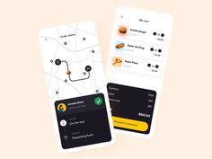 Mobile Design, App Design, Super Pizza, Delivery App, Mobile App, Food, Apps, Design Inspiration, Tools