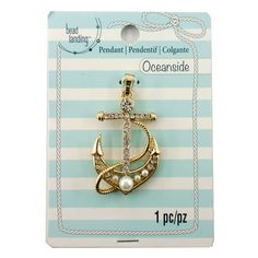 Purchase the Oceanside Gold Pearl Anchor Pendant by Bead Landing©™ at Michaels.com. Slide this stunning anchor pendant by Bead Landing along a gold-toned chain to create a lovely nautical-themed necklace.