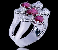 Ring 18kt - Rubies oval & Diamond - Carats: 1.41 - Price: 6,904 € - I am direct to a jeweler in southern Europe - ( Customers would have to pay the relative taxes and shipping insurance costs, depending on the final shipping address of the jewel. ) - Email: andersonweb@outlook.com