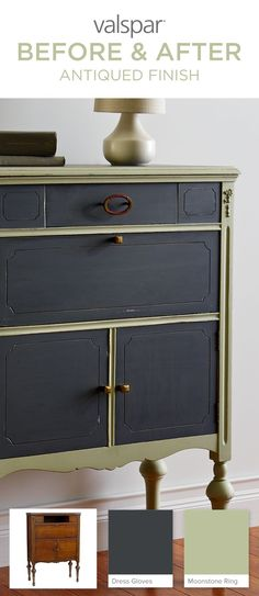Dresser Makeover With Old Locket Valspar Chalky Paint And Cream Wax And New Hardware Old 80 39 S