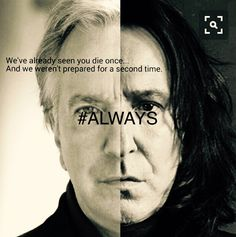 We will always love you Snape.... When I find the Resurrection Stone the first person that will appear will be you. Our hero Alan Rickman