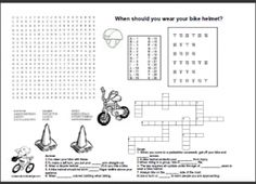Bicycling Safety Worksheet for Bike Day