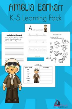 Celebrate National Aviation Month with this free K-5 Amelia Earhart learning pack. | embarkonthejourney.com