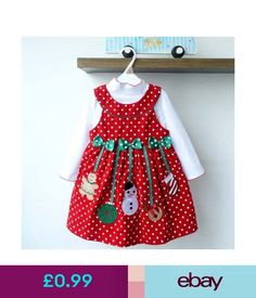847d6fe27903 Kids Clothes New Girls Christmas Princess Dresses Red Polka Dot Autumn Long  Sleeve Bow Snowman Vestidos 2 Pieces Sets - intl