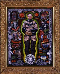 Harry Houdini by Joe Coleman