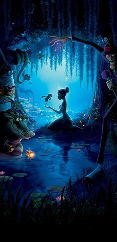 The Princess and the Frog Phone Wallpaper Die Prinzessin und der Frosch Phone Wallpaper Disney Pixar, Disney Dumbo, Disney E Dreamworks, Walt Disney Animation Studios, Disney Art, Disney Movies, Images Disney, Disney Pictures, Disney Princesa Tiana