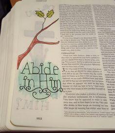 1 John 2:27 Faith Bible, Bible Scriptures, Bible Study Journal, Illustrated Faith, 1 John, Bible Art, Journal Inspiration, Art Journaling, Ps